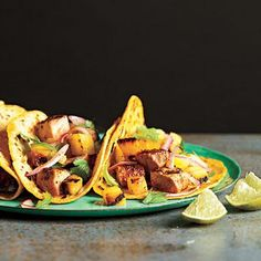 Tacos Al Pastor with Grilled Pineapple Salsa | CookingLight.com