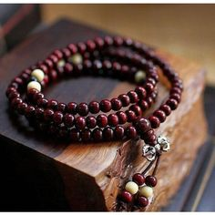 Fashion Bracelets Natural 6mm Rosewood Beads 108 Buddha Bracelets Men Women Tibet Jewelry