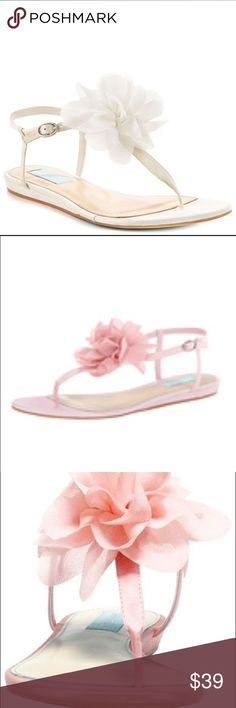 blue by betsey johnson pink flower sandals New with box! Good for wedding shoes!! Betsey Johnson Shoes Sandals