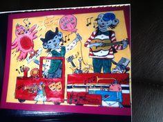 Barnekunst: musikktoget.  malt av Gro Wavik.
