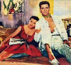"""Vera Clouzot e Yves Montand en """"El salario del miedo"""", 1953"""