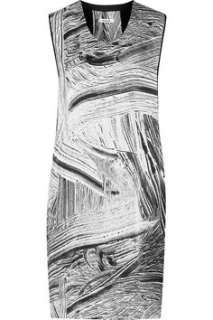 Helmut LangMethod cutout printed silk-satin dressback