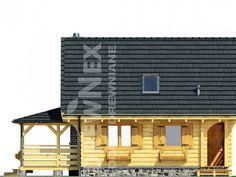 Jaskółka II - Domy drewniane letniskowe - DREWNEX Multi Story Building, Cabin, House Styles, Home Decor, Projects, Decoration Home, Room Decor, Cabins, Cottage