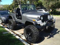 CJ7 Lifted Matte Grey Jeep 1980 38x15.5x18