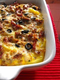 Batatas com atum no forno (aproveitamentos) | As receitas lá de casa