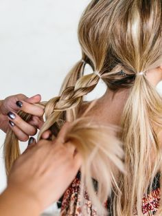 Holiday Hair Tutorial    Easy Triple Braided Updo - The Effortless Chic