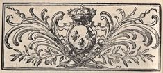 French Printer Ornament - Crown