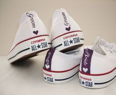 24bc580ed605 Mono White Custom Wedding Converse l Dead Fresh.co.uk