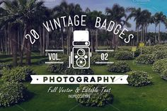20 Vintage Badge Photography Vol.02 Templates 20 Vintage Badges Photography VOL.02/ retro styled badges for fotographer / photography logos, sign by inumoccatype