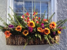 This fall window box gets by with accessories and colorful crabapples and bittersweet berries. Description from pinterest.com. I searched for this on bing.com/images