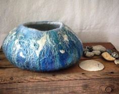 Items similar to Another Highly Irregular Felted Wool Bowl. on Etsy
