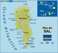 Map of Sal (Cape Verde)