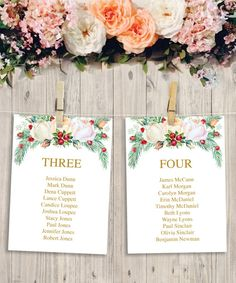 items similar to wedding seating chart template diy printable wedding table arrangement winter berry hanging seating chart instant download on etsy