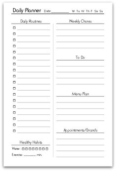 Daily Schedule Free Printable | Free printable, Organizations and ...
