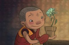 Dechen is a Ladhaki, Tibetan Buddhist monk-in-training with a passion for gardening. One stormy night, he rescues an exquisite flower by bringing it indoors. Peace At Last, Film D'animation, Stormy Night, Relaxing Yoga, Relaxation, Buddhist Monk, Video Film, Finding Peace, Positive Attitude