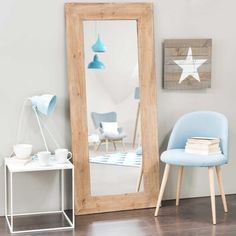 Spiegel KEY WEST aus recycelter Ulme, H 160cm