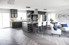 Modern neutral design  #kitchen #kitchen reno #yeg design #design #herringbone floor #granite countertops #ikea Kitchen Reno, Design Kitchen, Ikea, Interior Design Services, Granite Countertops, Herringbone, Design Design, Modern, Neutral