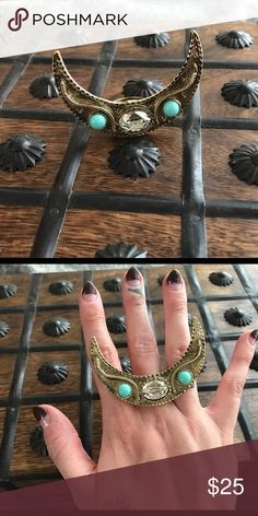 Vanessa Mooney Mystic Moon Statement Ring sz 6 Crazy Statement Ring! Size 6. By Vanessa Mooney, tagged for visibility. No trades, no modeling. Price firm unless bundled, no trades whatsoever, please read all closet rules before purchasing 💞 Free People Jewelry Rings