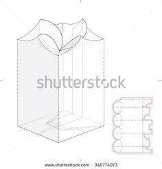 Custom Top Lock Candy Retail Box With Die Cut Template   Buy This Stock  Vector On Shutterstock U0026 Find Other Images.