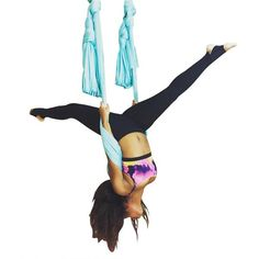 Premium Quality Deluxe Aerial Yoga Hammock Kit - Everything you need to go flying yoga at home! Feel amazing stretching the body on these strong silky fabrics.