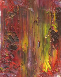 Original Acrylic ABSTRACT IN FALL Painting Fine Art by rostudios, $40.00