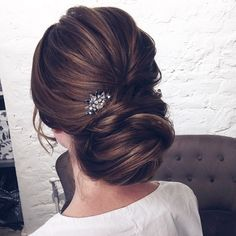 Gorgeous Wedding Hairstyles from updo to wedding hairstyles down. wedding hairstyles perfect for every season,chignon,boho wedding hairstyles,braided updo