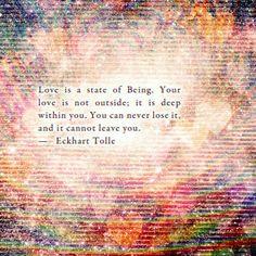 Spirituality: Eckhart Tolle on love.