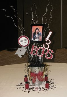 These centerpieces were beautiful and easy to make. :)