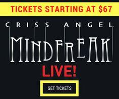 Get tickets to Criss Angel Mindfreak now! #LasVegas