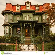 Cape May Victorian Home - Download From Over 66 Million High Quality Stock Photos, Images, Vectors. Sign up for FREE today. Image: 21586236