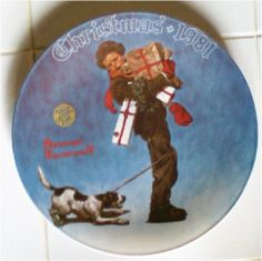 Norman Rockwell Collector Plate Wrapped Up In by GranVintage