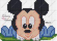 Lidiane Silveira Ponto Cruz: Mickey e Minnie Baby