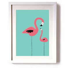 Poster Print Art Pink Flamingos Print A4 or A3 (150 ZAR) ❤ liked on Polyvore featuring home, home decor, wall art, pink home decor, retro wall art, pink poster, flamingo wall art and pink wall art