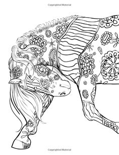 Horse Coloring Pages, Colouring Pages, Adult Coloring Pages, Coloring Books, Horse Stencil, Colorful Drawings, Horse Art, Sketches, Deco