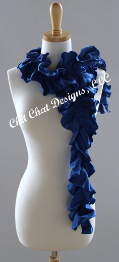 Chit Chat Designs' Blue Ruffle Scarf
