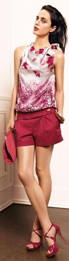 pantalon rojo - granate & top estampado