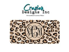 Personalized Front License Plate  Monogram by CrazianDesigns