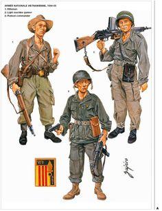 Armée Nationale Vietnamienne; Rifleman, Platoon Commander & Light Machine Gunner. 1954-55.