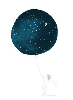 Night sky balloon. Keep loving up, Peanut.