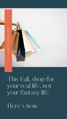 Looking for money-saving advice? You can start by shopping for your real life, not your fantasy life. Read on for actionable tips for how to do that! Fantasy Life, Mindful Living, Life Advice, Simple Living, Self Development, Saving Money, Life Is Good, Real Life, Relationship