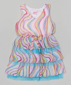 Look at this Pink & Blue Swirly Dress - Toddler & Girls on #zulily today!