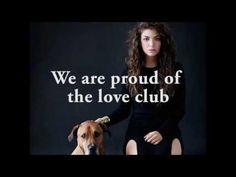 Lorde - The Love Club (lyric video) - YouTube
