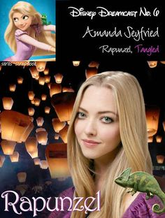 Rapunzel=Amanda Seyfried | A Dream Cast Of Your Favorite Disney Characters