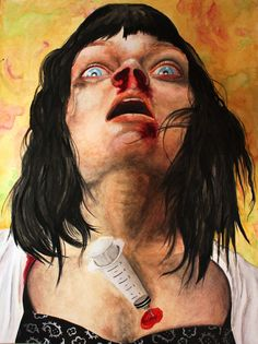 Dude,  I must own this.....     Pulp Fiction Mia Wallace Overdose  Watercolor 11in x by DiablaArt, $300.00