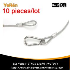 26.50$  Watch now - http://alijfd.shopchina.info/go.php?t=32685408263 - (10/lot) Safety Cable Stainless Steel Wire diameter  4mm length 800mm  for stage lights moving head par light dj lighting 26.50$ #magazineonlinebeautiful