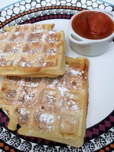 Life and Lizzy♡: Recept snelle Belgische wafels met rabarber- aardbeien compote