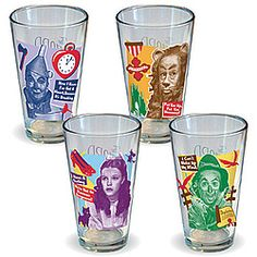 The four friends reunite once again on our set of 4 pint glasses, featuring a different image and quote on each glass.