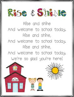 Rise and Shine Song FREEBIE