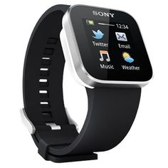"""Sony SmartWatch - Smartwatch Android (pantalla 1.3"""", Bluetooth, Android), color negro"""