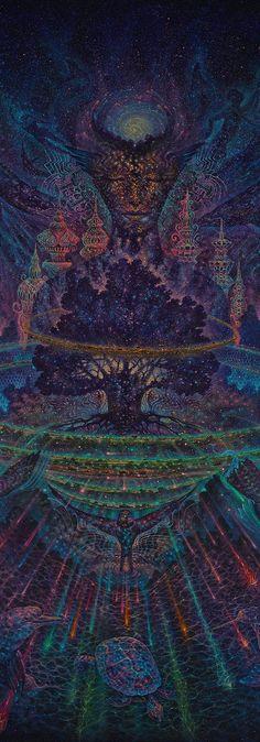 Visionary artwork of Luis Tamani. Virtual Gallery, Originals paintings, Prints, Organic Paper